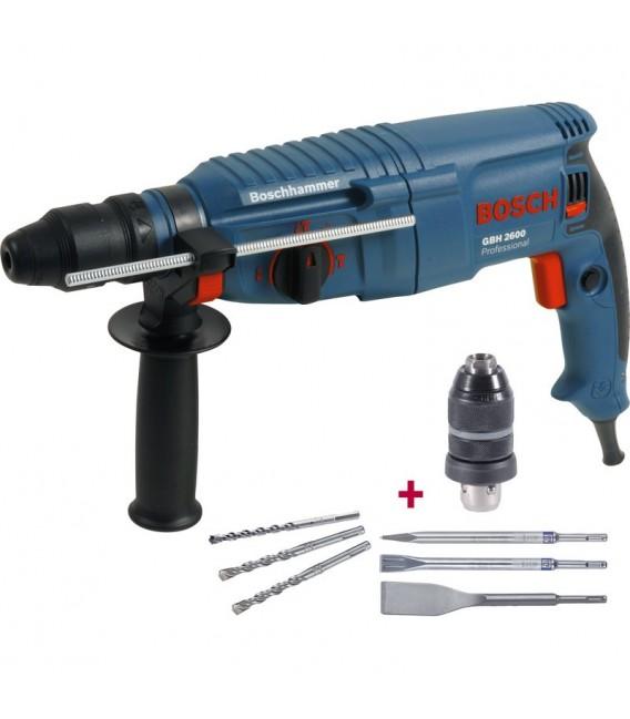 Lööktrell Bosch GBH 2600 + tarvikud