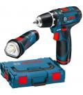 Akukruvikeeraja Bosch 10,8 V + GLI taskulmp Bosch 10,8 V
